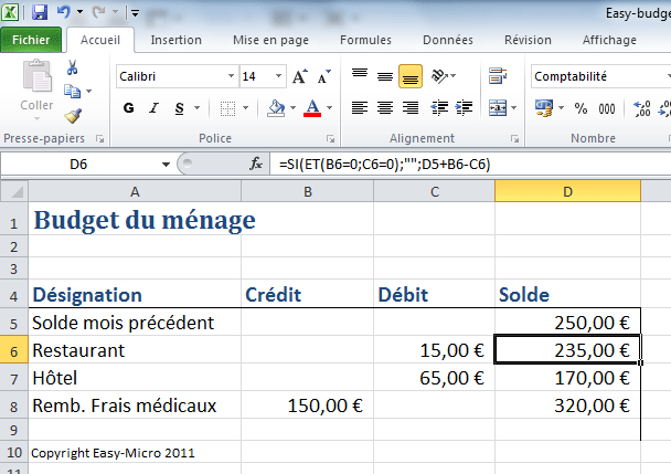 Connu Easy-Micro [ EXCEL AVANCéES - Budget Excel ] - Formations  MQ49