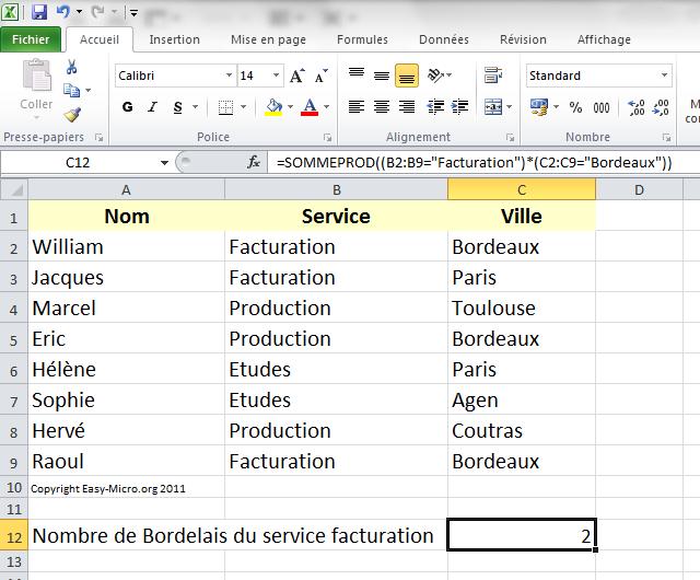 Easy Micro Excel Avancees Nb Si Avec 2 Criteres