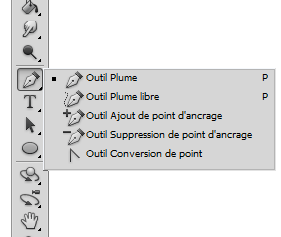 Photoshop outil plume