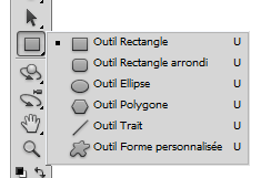 Photoshop outil rectangle